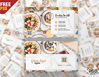 Food Blogger Business Card PSD