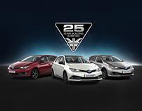 Toyota Auris Hybrid GB25 Emails