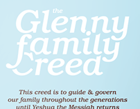 Family Creed Poster Design