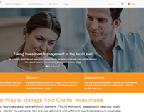 Website redesign for online brokerage