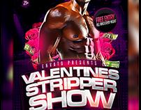 Stripper Show Party Flyer