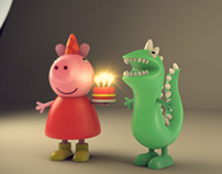 Peppa Pig Figurines 3D Modelling and Rendering, 2013.