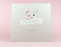 M&D Wedding invitation