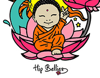 Baby Buddha (print design for maternity clothing)