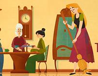 Cinderella Children's Book App Illustrations
