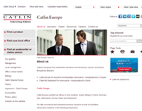 Catlin Europe IR Website