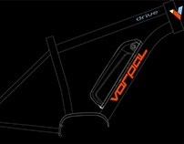 Vorpal e-bikes logo, branding and frame design