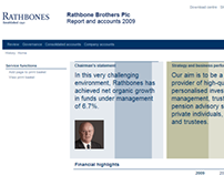 Rathbones Annual Report 2009