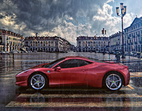 Ferrari outdoor advertising