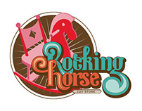 Rocking Horse Toy Store, Logo options and posters