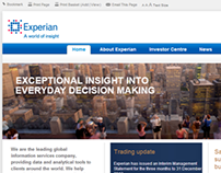 Experian plc corporate website