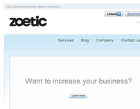 Zoetic Wordpress website
