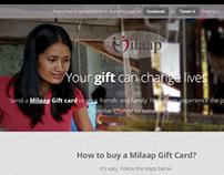 Milaap Gift Card landing Page