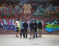 TITS crew wall, Bull Skull piece
