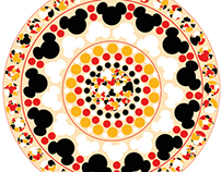 mickey mouse pattern& mandela