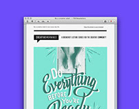 CreativeMornings Newsletters