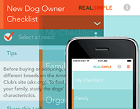 Real Simple Checklist App