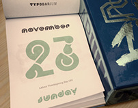 Typodarium calendar pages