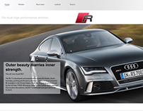 Audi high performance web design