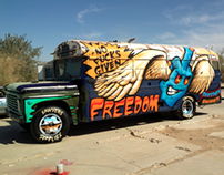 Sawyers Supplies - Flying Fuck Freedom Bus