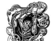 Clockwork Chains Tattoo