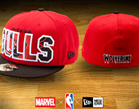 MARVEL x NBA HEADWEAR: BIG WORD ACTION CAP