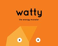 App Design: Watty the Energy Monster