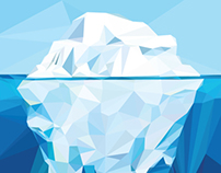 Iceberg Polygon Art