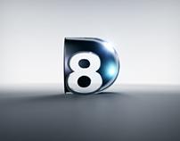 D8 3D Network Logo