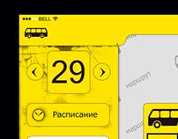 UI design for online bus iPad app