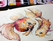 Animals watercolor