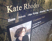 Kate Rhodes, website design