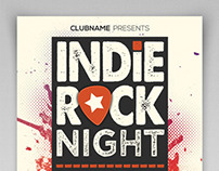 Indie Rock Night Flyer Template