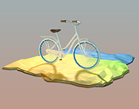 Low poly bicycle