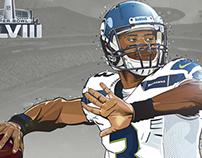 Russel Wilson MVP Super Bowl XLVIII - Ilustración