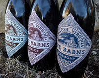 The Barns Wine Label Redesign