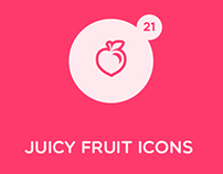 Juicy Fruit and Vegetable Icons
