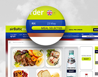 airBaltic Meal - flights meal preorder system