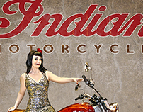 Vintage Inspired Motorcycle Pinup Art