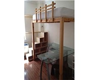 Loft bed and steps w/storage