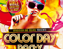 Color Day Party Flyer
