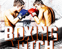 Boxing Flyer Template PSD