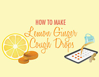 How to Make Lemon Ginger Cough Drops
