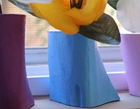 Painted bone vases