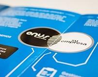 Folder + Brochure «Onus Sistemas»