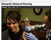 Wizzards Tattoo & Piercing Homepage Remodel