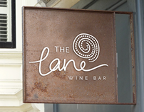The Lane   Wine Bar Identity