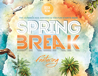 Spring Break Beach Party Poster