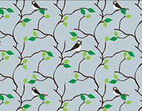 Garden Bird Pattern Repeats