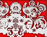 promoting polish culture, vector image